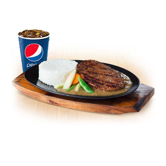 PM9 Sizzling Burger Steak