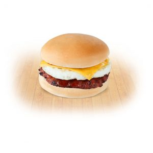 Spicy Chori Burger with egg and cheese